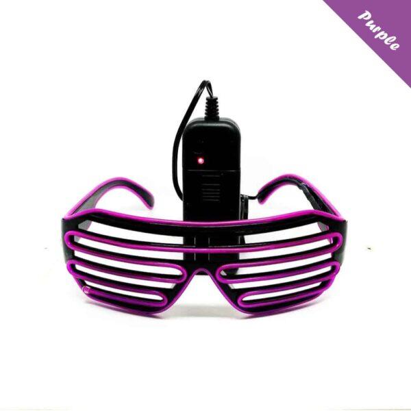 FestX - Svíticí brýle na párty - Fialová