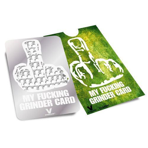 """Drtící / Katrovací karta - """"My fucking grinder card"""""""