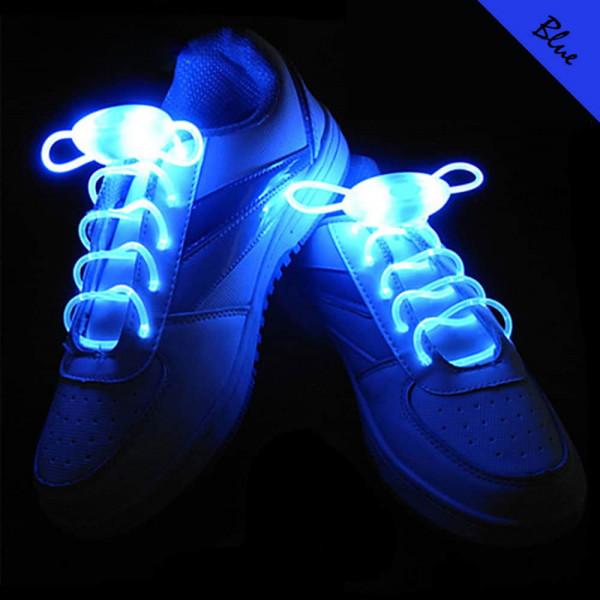 LED svíticí tkaničky do bot - Modrá