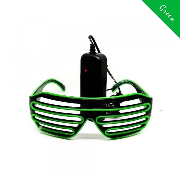 FestX - Svíticí brýle na párty - Zelená