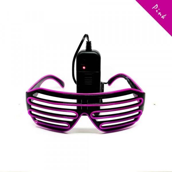 FestX - Svíticí brýle na párty - Růžová