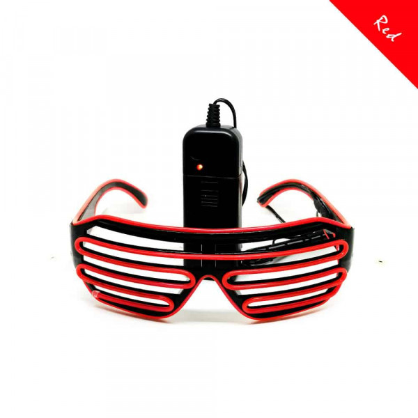 FestX - Svíticí brýle na párty - Červená