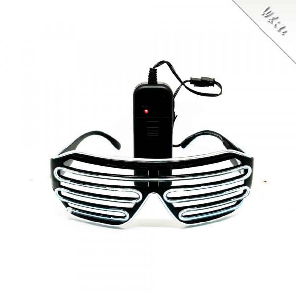 FestX - Svíticí brýle na párty - Bílá