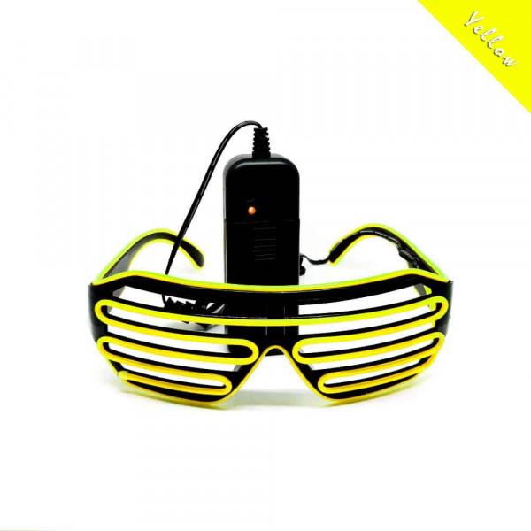 FestX - Svíticí brýle na párty - Žlutá