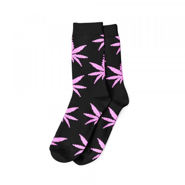Dámské ponožky AMSTERDAM vysoké - černá / růžová