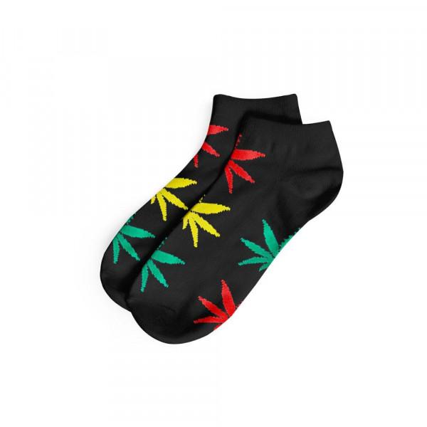 Pánské ponožky AMSTERDAM nízké - černá / rasta barvy