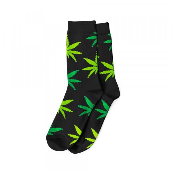 Pánské ponožky AMSTERDAM vysoké - černá / zelená