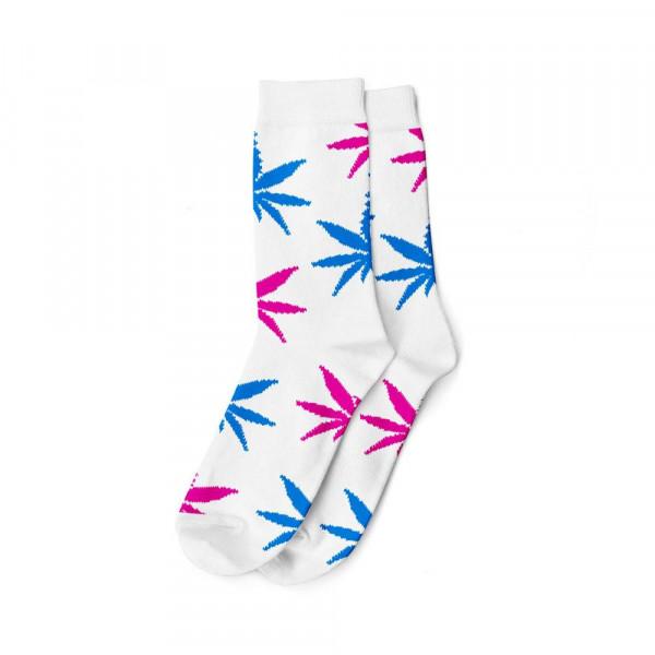 Dámské ponožky AMSTERDAM vysoké - bílá / růžová, modrá