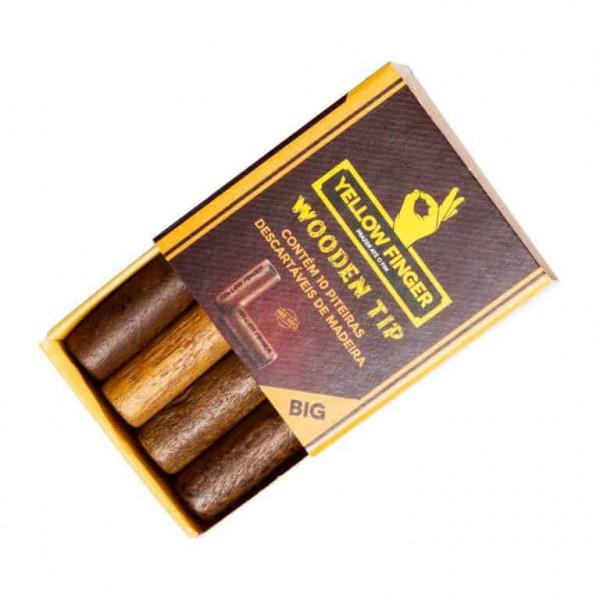 YELLOW FINGER - Dřevěné filtry - BIG - 10 ks